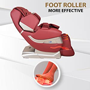 massage chair with foot rollers