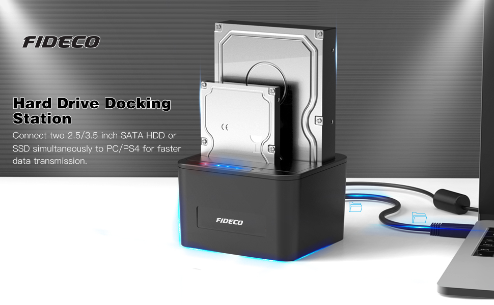 FIDECO HDD Docking Station, USB 3.0 Dock Station para Unidad de ...