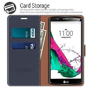 COODIO Funda LG G4 con Tapa, Funda Movil LG G4, Funda Libro LG G4 ...