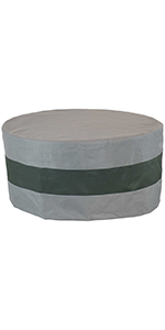 round 2-tone outdoor fire pit cover
