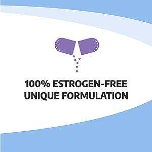 Estrogen and hormone free