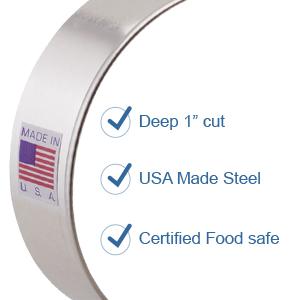 USA made steel cookie Cutter