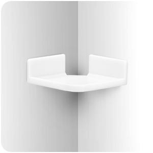 Mini Corner Shelf Mount for Security Cameras, Baby Monitors, Speakers, Plants & More,