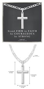 Diamond-Cut Cross Necklace