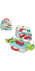Kids Kitchen Cooking Playset Toys w Storage Box