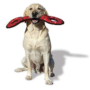tuffy dog toy red soft toy