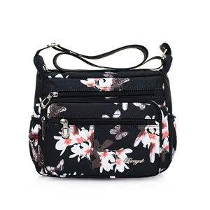 Portrait Dog Women Sports Gym Totes Bag Multi-Function Nylon Travel Shoulder Bag