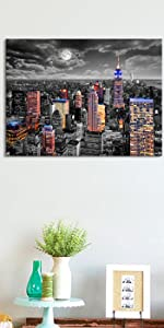 black and white NYC canvas art