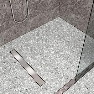 sonni canaleta de ducha drenaje 150 acero inoxidable baño sifón tope de olor 2 en1 acero inoxidable