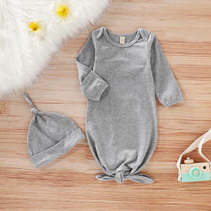 24e797e810c0d Infant Baby Girl Boy Sleepwear Nightgown Solid/Floral/Striped Cotton  Sleeper Knotted Sleeping Bag 0-6 Months …