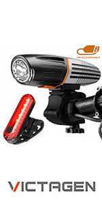 Five light mode option bike lights