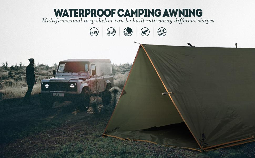WATERPROOF CAMPING AWNING