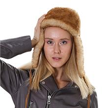 Sheepskin hat for women