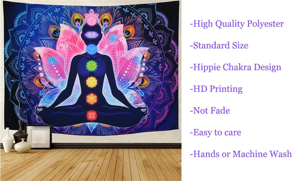 Hippie Chakra Wall Tapestry