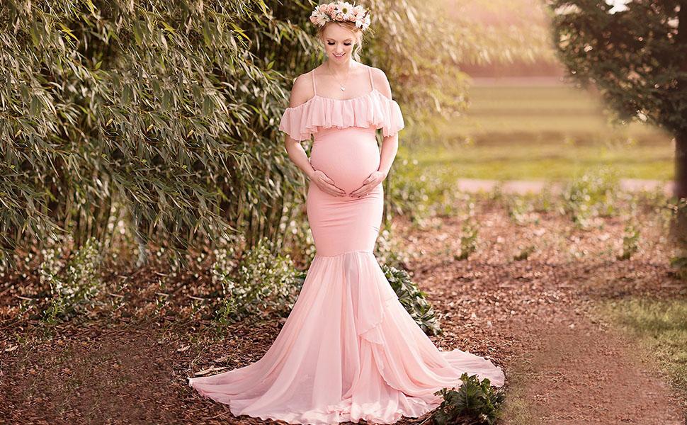 Women Maternity Dress for Photoshoot