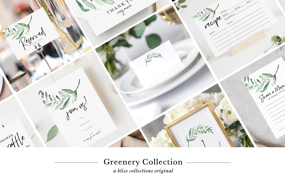 Greenery Collection — Bliss Collections