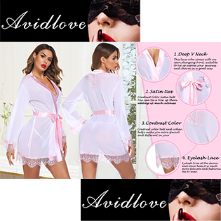 lingerie robe with satin bow