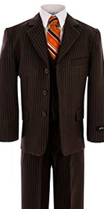 Brown, pinstripe, formal, wedding, suit, boy, boys, kids