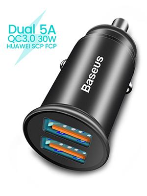 Baseus Auto Ladegerät Mini Zigarettenanzünder 5a 30w Elektronik