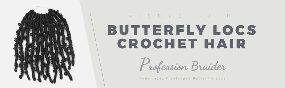 Niseyo 12 inch Butterfly Locs Crochet Hair