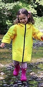 kids rain jacket coat girl boy