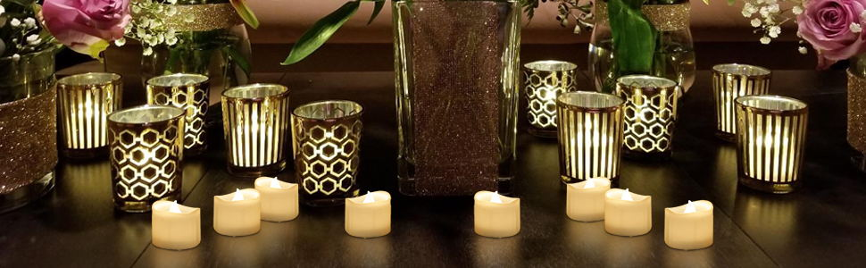 led tea lights flameless warm white