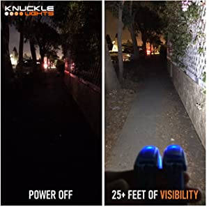 Own the night with Knuckle Lights LED Flashlights for running