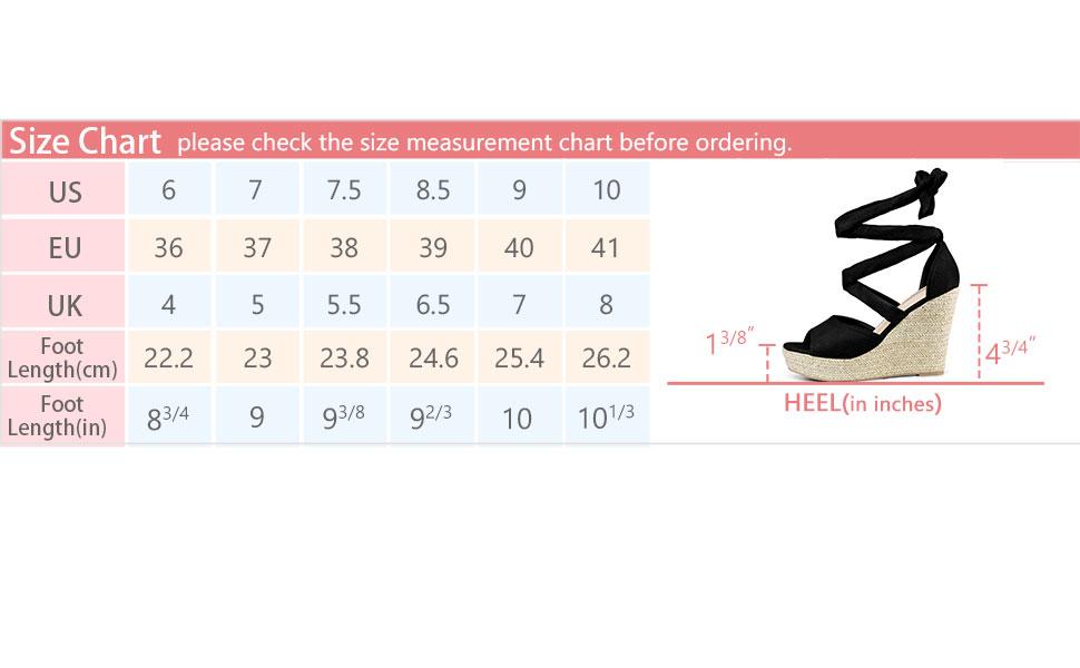 Allegra K Women's Lace Up Espadrilles Wedges Sandals