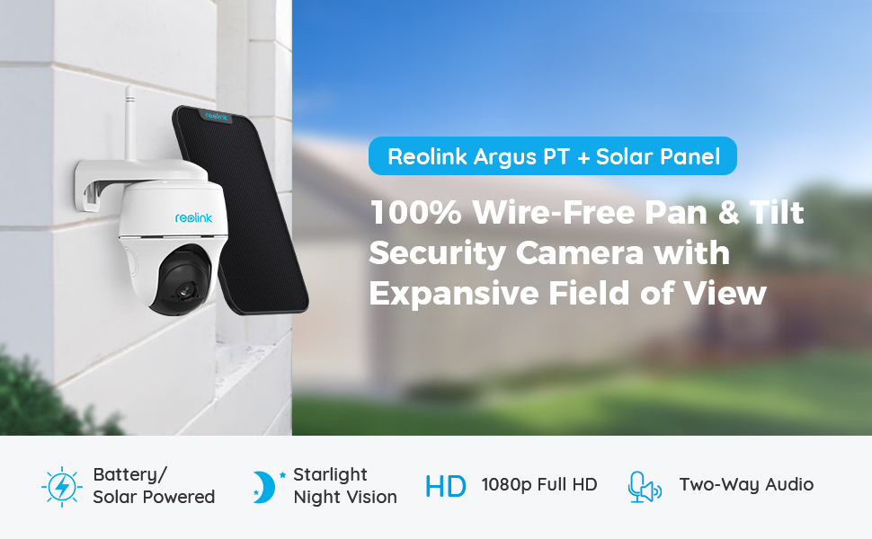 wire free pan tilt security camera