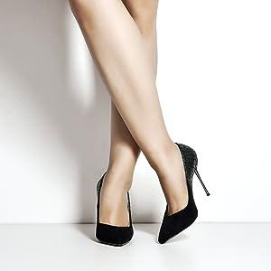 MissHeel Stilettos Pfennigabsatz Pointed Toe Pumps High Heels