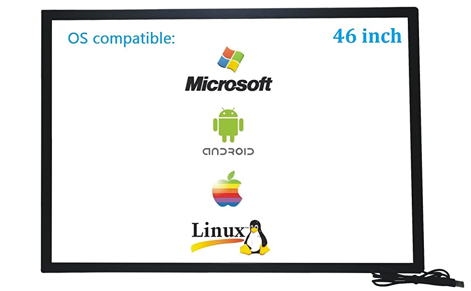 46 inch Infrared Touch Screen Overlay Frame
