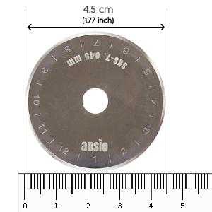 Gestalten ideal zum Absteppen 45 mm Schneidern ANSIO Rollschneider Lindgr/ün scharfe Edelstahlklinge