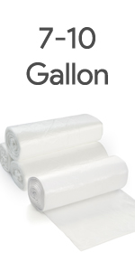 7-10 Gallon trash bags
