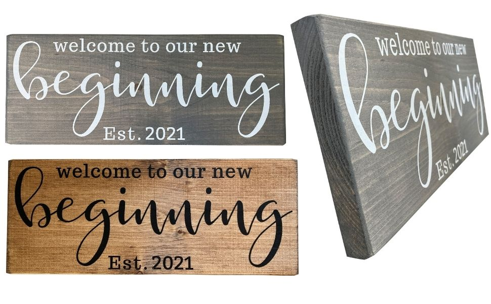 mr and mrs signs 2021 sign wood wooden bridal shower gift wedding engagement gifts bride registry
