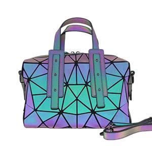 geometric luminous purses and handbags holographic purse  reflective holographic bag