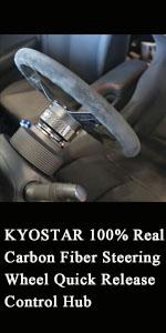 KYOSTAR 100% Real Carbon Fiber Steering Wheel Quick Release Control Hub