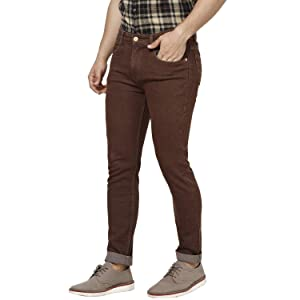 Brown washed jeans;Men jeans latest stylish;Men's jeans washed style;Men's jeans slim stylish;Jeans