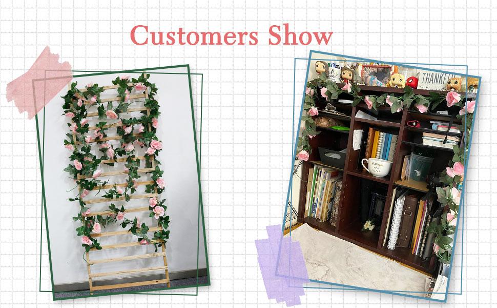 roses vine roses garland artificial roses
