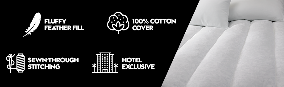W Hotels Featherbed Mattress Topper