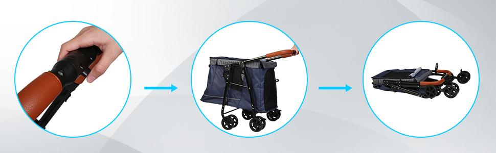 Four Wheels Pet Stroller