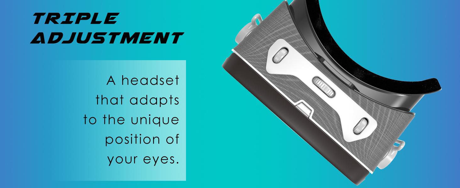 adjustment triple gear wheel unique adapt position eyes lenses comfortable