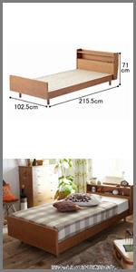 ベッド 北欧調ベッド ベッドフレーム