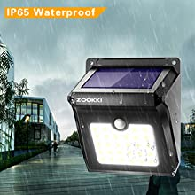Water proof solar security light