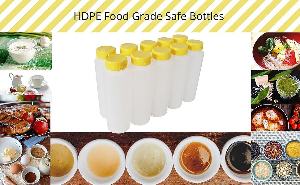 HDPE Food Grade Safe Bottles