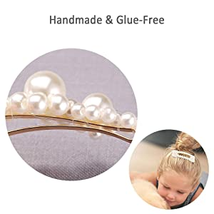 beads on the clips are manually