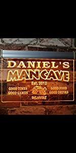 ADVPRO LED neon sign Personalized fonts text Traditional Color Switch bright light man cave home bar
