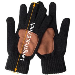 knit gloves men