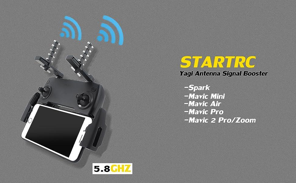 STARTRC Yagi-Uda Extensor de rango de amplificador de señal de antena de control remoto para DJI Mavic Mini / Mavic 2 / PRO / DJI Spark / DJI Mavic ...