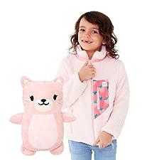 2-in-1, transform, fun, kids jacket, kids sherpa, girl jacket, girl sherpa, boy jacket, boy sherpa
