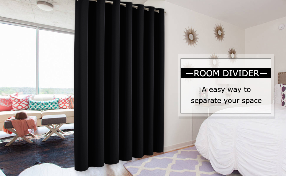 Blackout Room Divider Curtains for city loft